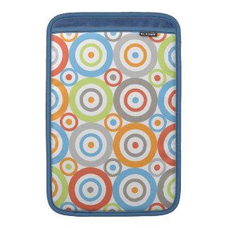 Abstract Circles Big Pattern Color Mix & Greys MacBook Air Sleeve