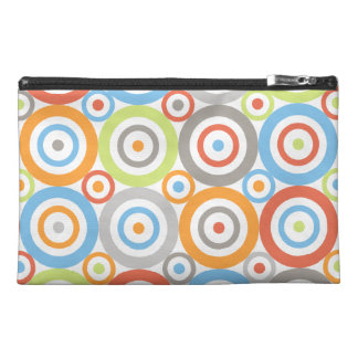 Abstract Circles Big Pattern Colour Mix & Greys Travel Accessory Bag