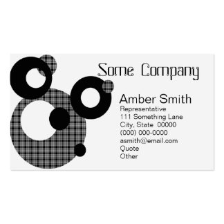 Abstract Circles (Black And White Variegated) Double-Sided Standard Business Cards (Pack Of 100)