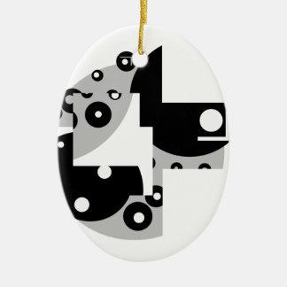 Abstract Circles Ceramic Ornament