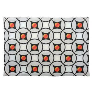 Abstract circles cloth placemat