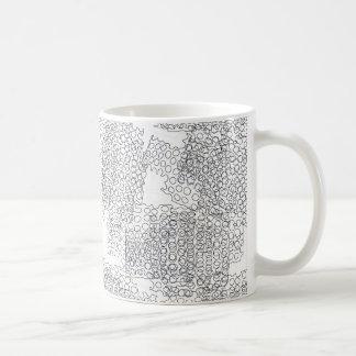 Abstract circles design coffee mug