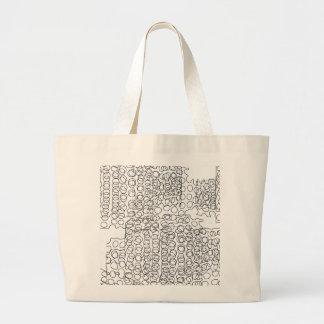 Abstract circles design large tote bag