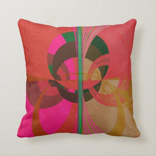 Abstract circles design throw pillow