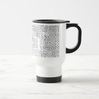Abstract circles design travel mug