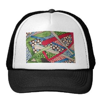 abstract circles hat
