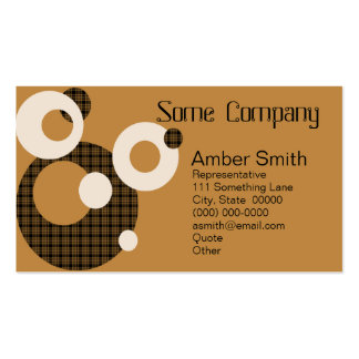 Abstract Circles (Hot Cocoa) Double-Sided Standard Business Cards (Pack Of 100)