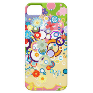 Abstract Circles iPhone 5 Barely There Case