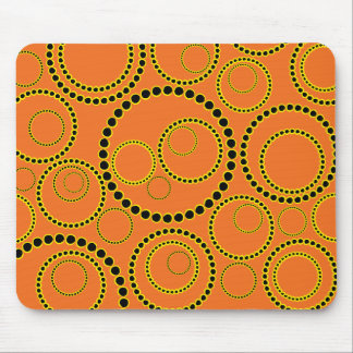 Abstract Circles Mouse Pad