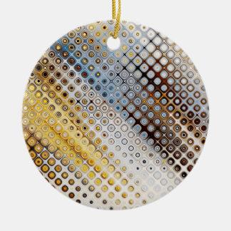 Abstract Circles Pattern Ceramic Ornament