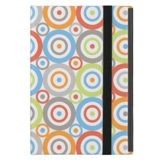 Abstract Circles Pattern Color Mix & Greys Cover For iPad Mini