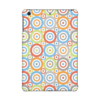 Abstract Circles Pattern Color Mix & Greys iPad Mini Retina Covers