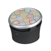 Abstract Circles Pattern Color Mix & Greys Speaker