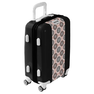 Abstract Circles Pattern custom monogram luggage