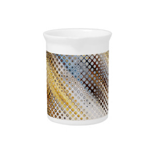 Abstract Circles Pattern Drink Pitcher