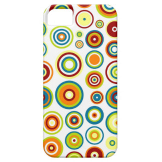 Abstract Circles Pattern | Orange Blue Lime Brown iPhone SE/5/5s Case