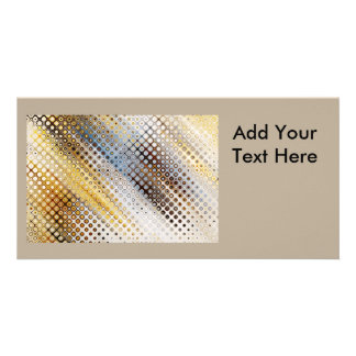 Abstract Circles Pattern Picture Card