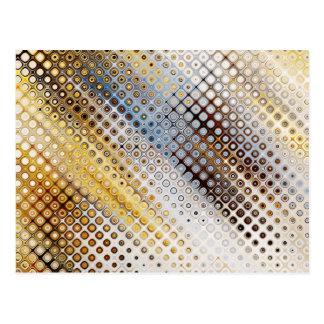 Abstract Circles Pattern Postcard
