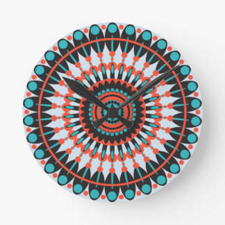 Abstract circles pattern round clock