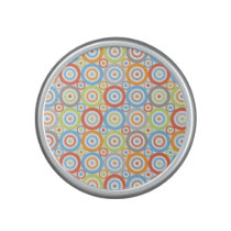Abstract Circles Repeat Ptn Color Mix & Greys Speaker