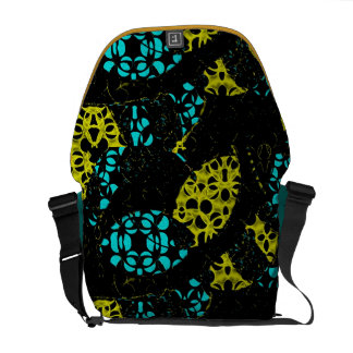 Abstract Circles Rickshaw Messenger Bag
