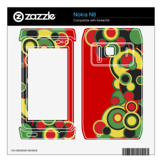 Abstract Circles Skins For The Nokia N8