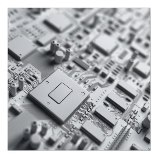 Abstract Circuit Board Posters
