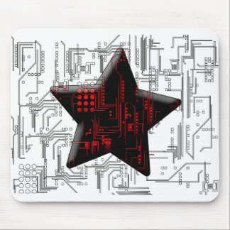 Abstract Circuit Mouse Pad