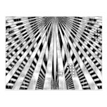 Abstract Circuitry and sunburst design Postcard