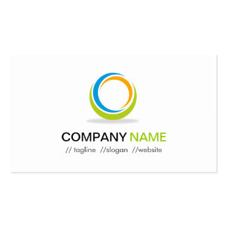 Abstract Circular Logo Modern Stylish Customizable Double-Sided Standard Business Cards (Pack Of 100)