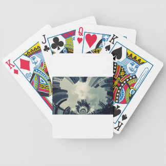 Abstract City Bicycle Playing Cards