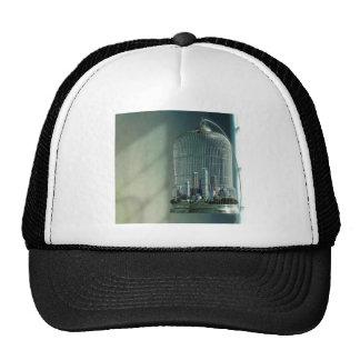Abstract City Bird Cage Trucker Hat