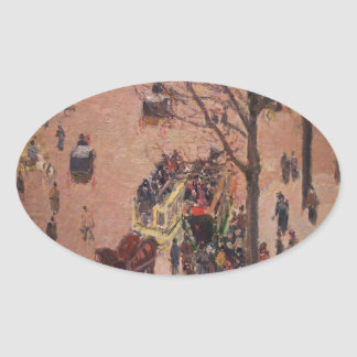 Abstract City City Fair Busy Day Oval Sticker
