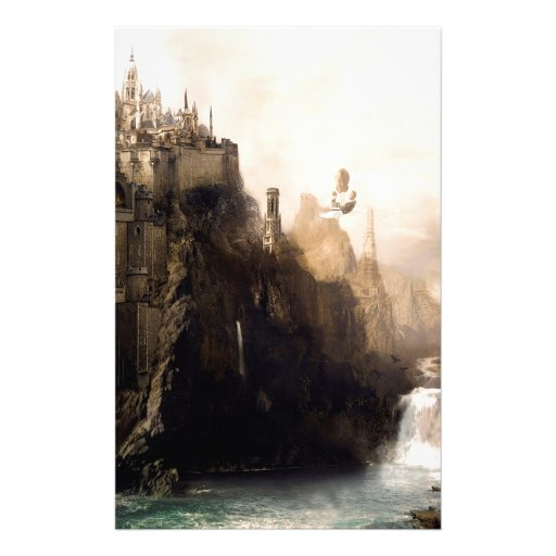 Abstract City Cliff Customized Stationery