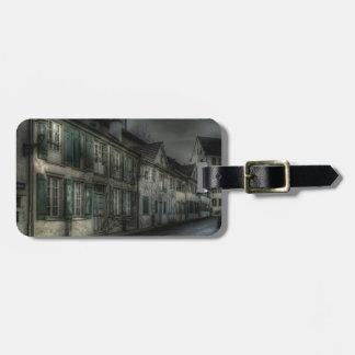 Abstract City Dark Village Bag Tags