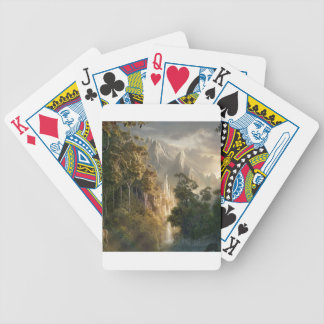 Abstract City Kingdom Light Poker Deck