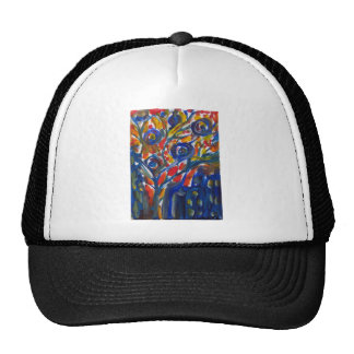 abstract city life trucker hat