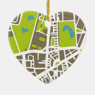 Abstract city map for globetrotter christmas ornament