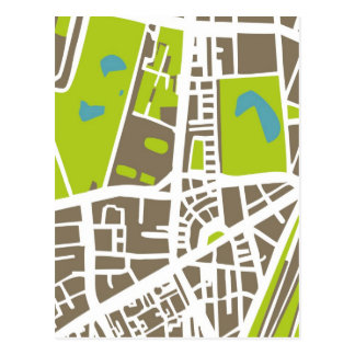 Abstract city map for globetrotter postcard