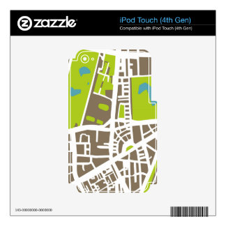 Abstract city map for globetrotter iPod touch 4G skins