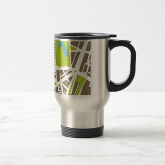 Abstract city map for globetrotter travel mug