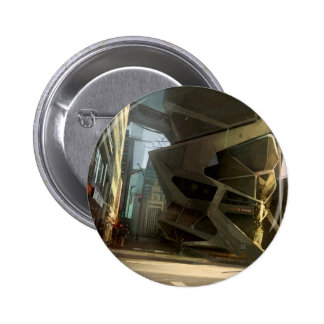 Abstract City New Life Pinback Buttons