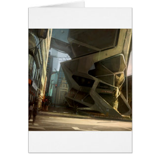 Abstract City New Life Greeting Card