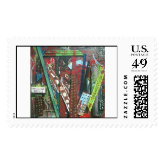 Abstract City Postage