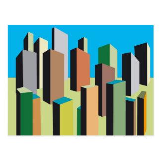 Abstract City Postcard
