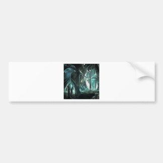 Abstract City Priest World Bumper Sticker