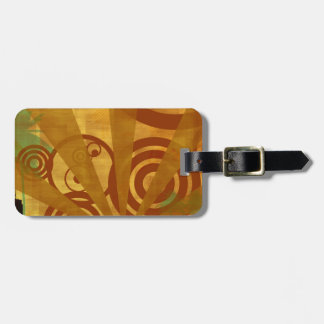 Abstract City Retro Bright Alive Travel Bag Tags