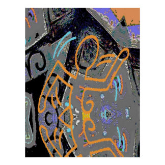 Abstract City Runner Poster