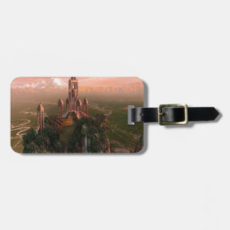 Abstract City Temple Of Light Bag Tags