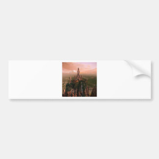 Abstract City Temple Of Light Car Bumper Sticker